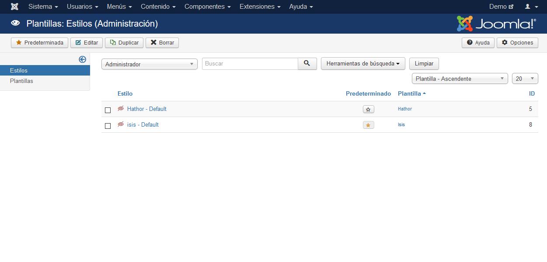 Personalización de la plantilla de administración de Joomla!