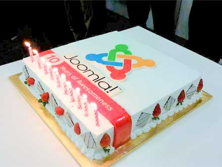 Birthday cake from Joomla!Day Malaysia in August 2015