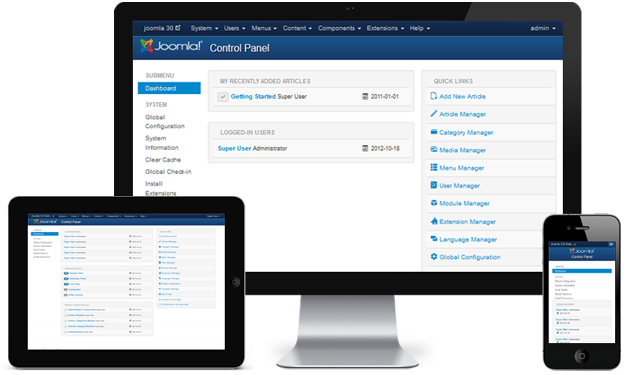 The Responsive Joomla 3.0 Back-end