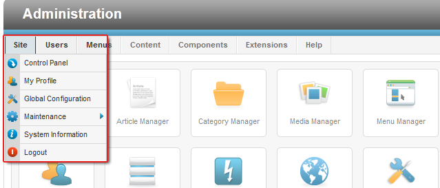The only menu style that you'll find in Joomla 2.5