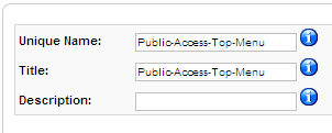 Public Access Top Menu