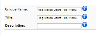 Registered Users Top Menu