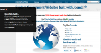 Joomlagov Home Page with flyout