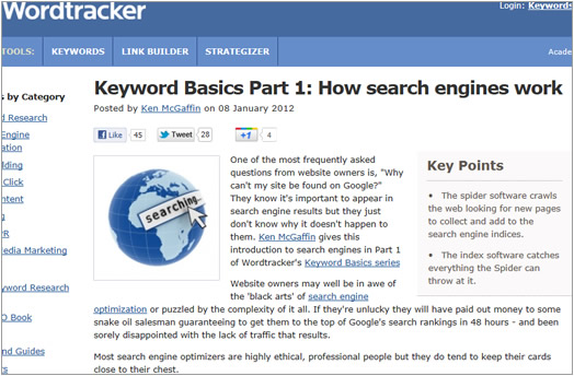WordTracker Keyword Basics Guide