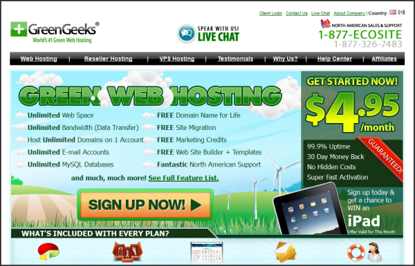 Premium web hosting provider | Greengeeks' screenshot