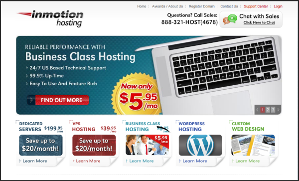 Premium web hosting provider | Inmotion's screenshot