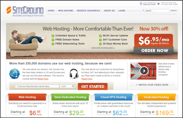 Premium web hosting provider | Siteground's screenshot