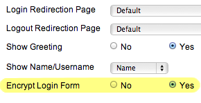 Joomla Encrypt Login Form Setting
