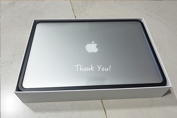 New MacBook Pro Laptop for Saurabh as outcome of Fundraising Campaign