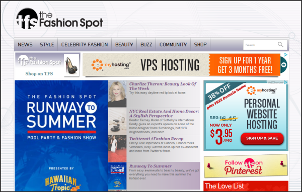 Popular websites using Joomla |  The Fashion Spot