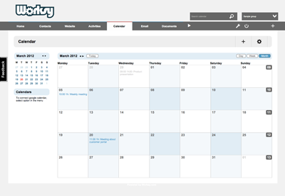 Worksy Calendar Monthly View